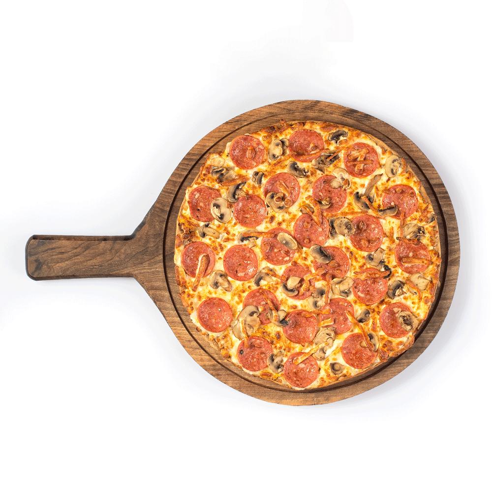 پیتزا سالامی و قارچ